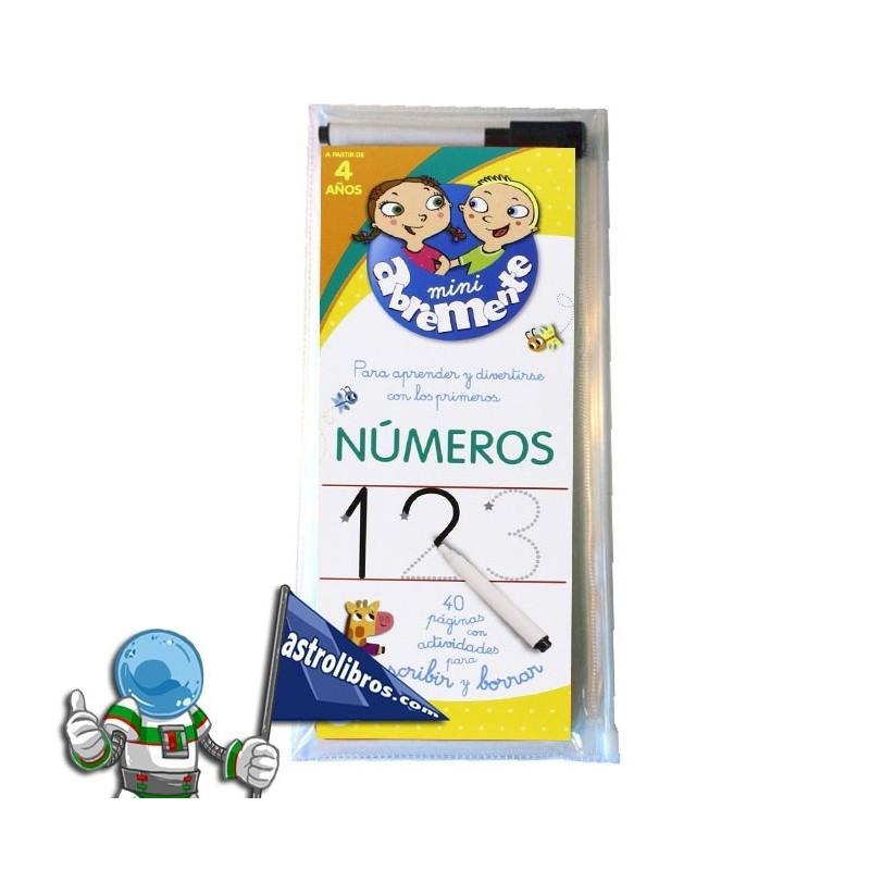 ABREMENTE 4 AÑOS , NÚMEROS , LIBRO PIZARRA