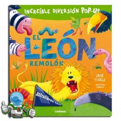 El león remolón. Libro pop-up.