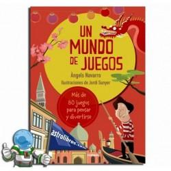 UN MUNDO DE JUEGOS , LIBRO CON PASATIEMPOS JUVENILES