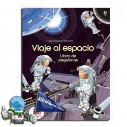 Viaje al espacio. Libro de pegatinas. Erderaz.