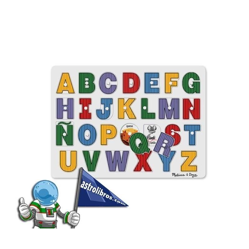 Puzzle encajable de las letras del alfabeto español.