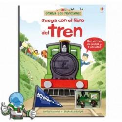 Juega con el libro del Tren. Granja los manzanos