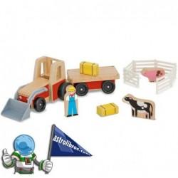 Tractor de granja con remolque