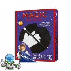 Disfraz de mago y libro de trucos. Set Magic.
