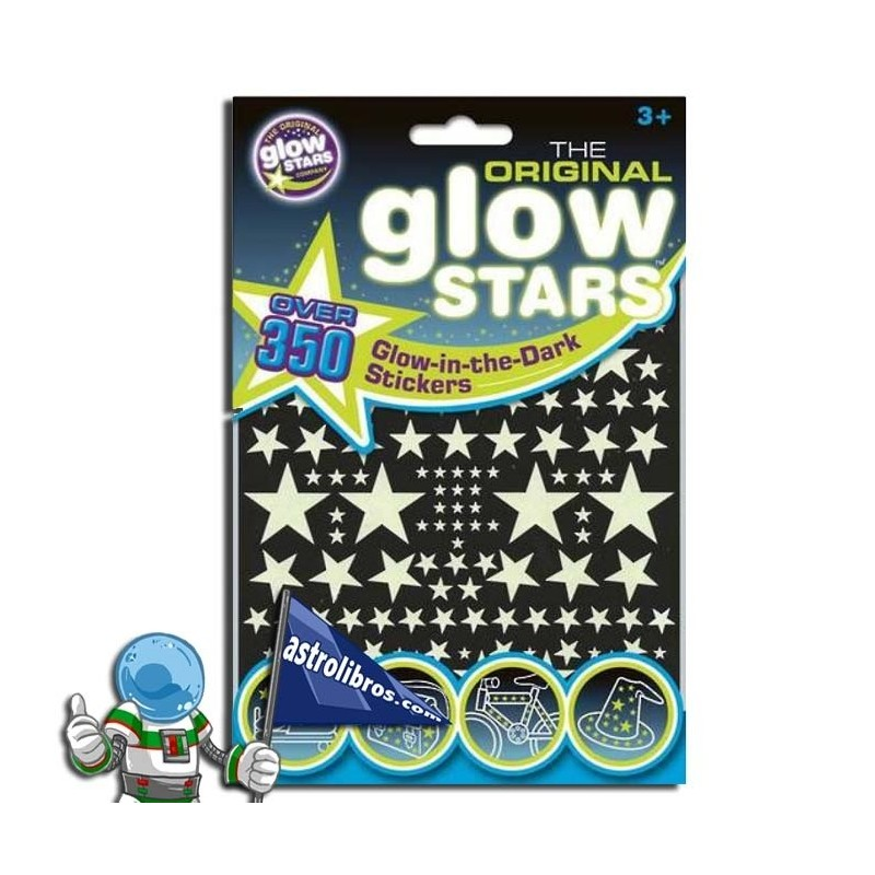 ESTRELLAS QUE BRILLAN EN LA OSCURIDAD. 350 STICKERS GLOW IN THE DARK