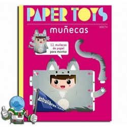 PAPER TOYS. MUÑECAS. Libro de manualidades