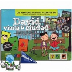 DAVID VISITA LA CIUDAD , CUENTOS SPC , CUENTOS CON PICTOGRAMAS