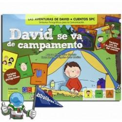 DAVID SE VA DE CAMPAMENTO , CUENTOS SPC , CUENTOS CON PICTOGRAMAS