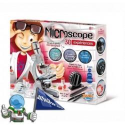 Microscopio. Caja con 30 experimentos