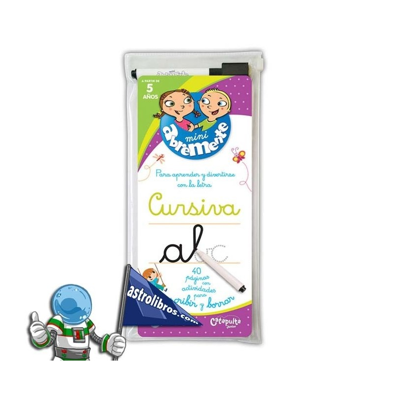 Mini abremente para escribir y borrar | Cursiva