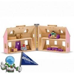 Casa de madera plegable infantil.