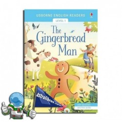 THE GINGERBREAD MAN , USBORNE ENGLISH READERS , LEVEL 1 -A1-