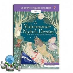 A MIDSUMMER NIGHT'S DREAM , USBORNE ENGLISH READERS , LEVEL 3 -B1-
