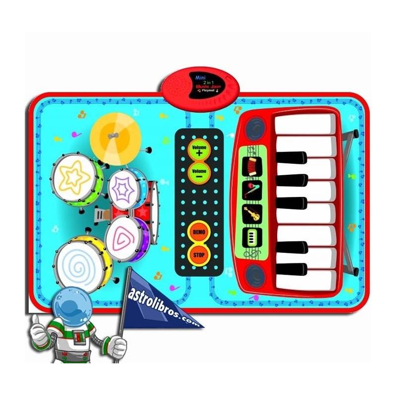 MINI MÚSICA PARA 2. MANTA PIANO Y BATERÍA