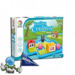 LOS TRES CERDITOS DELUXE , JUEGO DE LÓGICA PARA PREESCOLARES , SMART GAMES