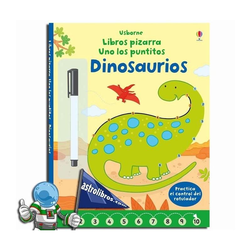 Libros pizarra. Dinosaurios. Uno los puntitos.