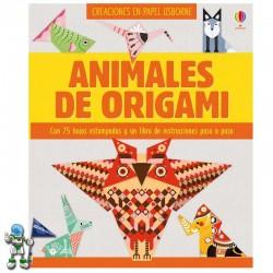 ANIMALES DE ORIGAMI , CREACIONES EN PAPEL