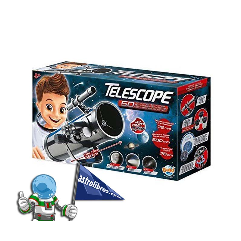 TELESCOPIO 50 ACTIVIDADES ZOOM375X