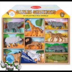 CAJA CON 10 ANIMALES SALVAJES DE SAFARI