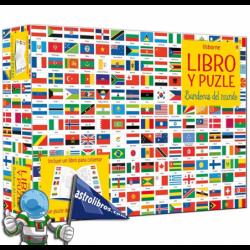 BANDERAS DEL MUNDO , LIBRO Y PUZLE 300 PIEZAS