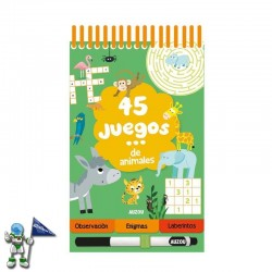 45 JUEGOS DE ANIMALES , PASATIEMPOS INFANTILES