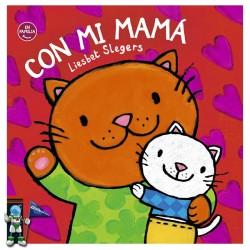 CON MI MAMÁ , CUENTO CON LETRA MAYÚSCULA , SOLAPAS